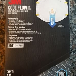 3M cool flow N95 8511 face respirator 10 count
